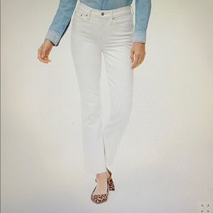 """J. Crew 9"""" high-rise crop flare white jeans (29)"""